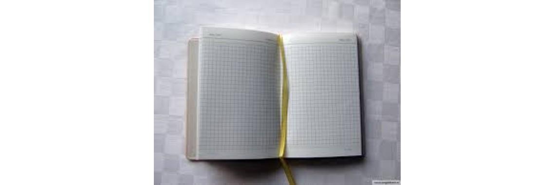 Записная книжка с листами из бумаги